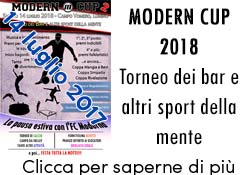 Modern Cup 2018 - Torneo dei Bar